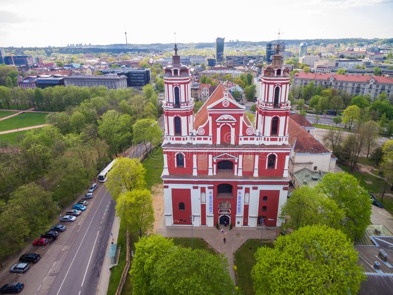 VILNIUS, LITUANIA - 7 MAGGIO 2016: Chiesa di St Philip e della st Jacob, Vilnius, Lituania immagini stock libere da diritti