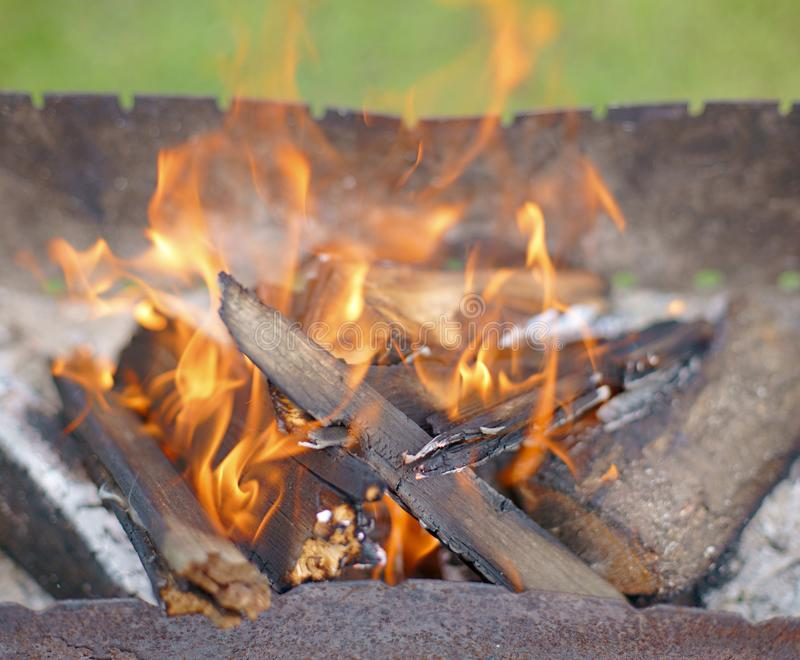 255 vilnius Lunch Cooking Fire royalty free stock images