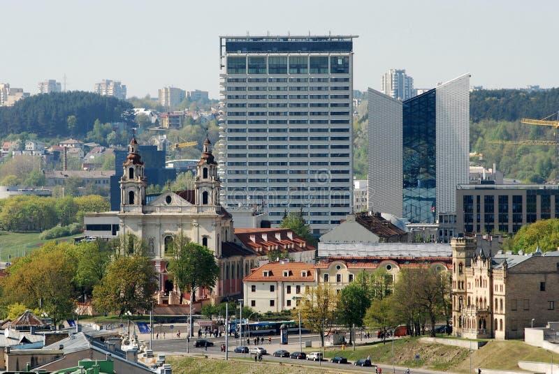 Vilnius miasta widok od Gediminas kasztelu zdjęcie royalty free