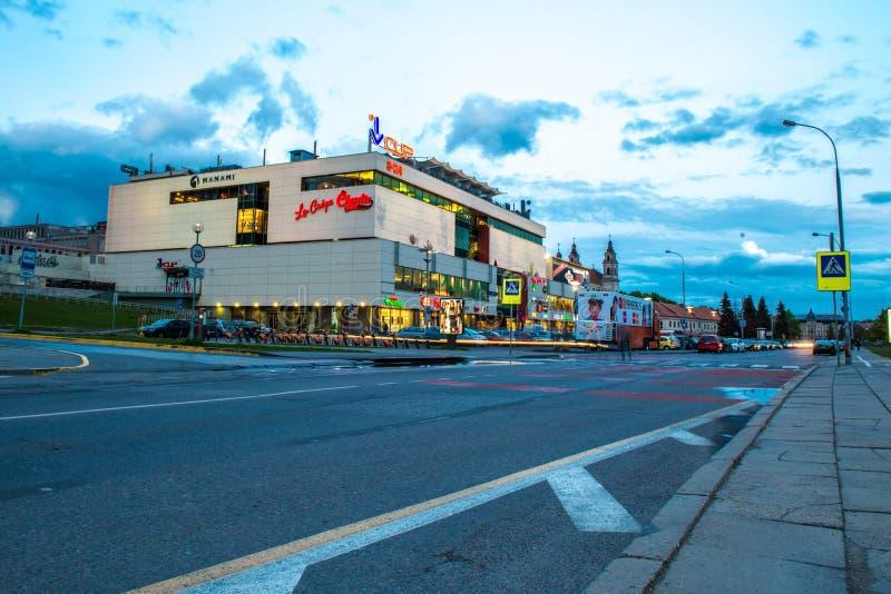 Vilnius nocy scena zdjęcie royalty free