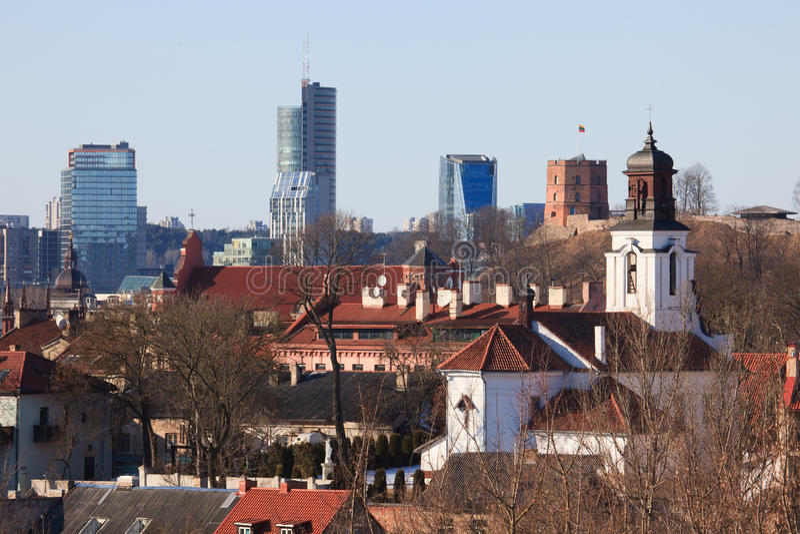 Vilnius old town cityscape stock photos