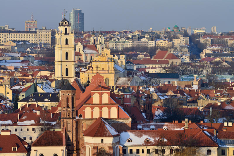 Download Vilnius old town stock photo. Image of cold, european - 29928978