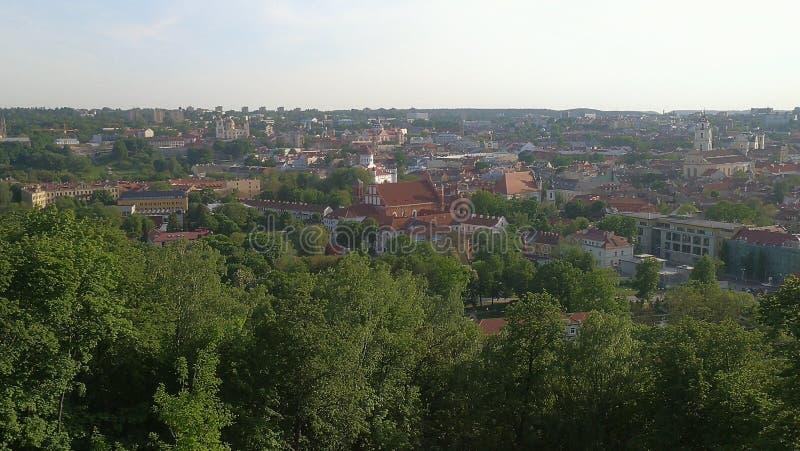 Vilnius panorama zdjęcie royalty free