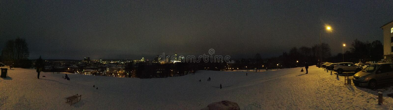 Vilnius panoramic view stock images