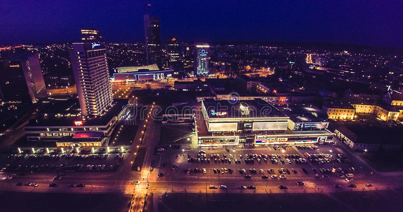 Vilnius skyscrapers royalty free stock photography