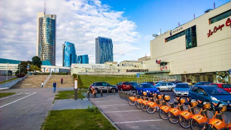 Vilnius stad arkivbild