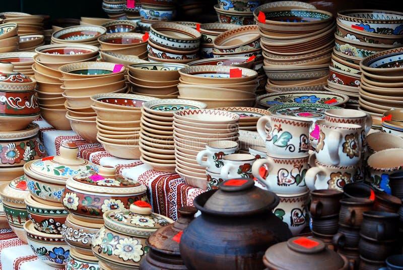 Vilnius stad i årlig traditionell hantverkmässa: Kaziukas mässa arkivbild