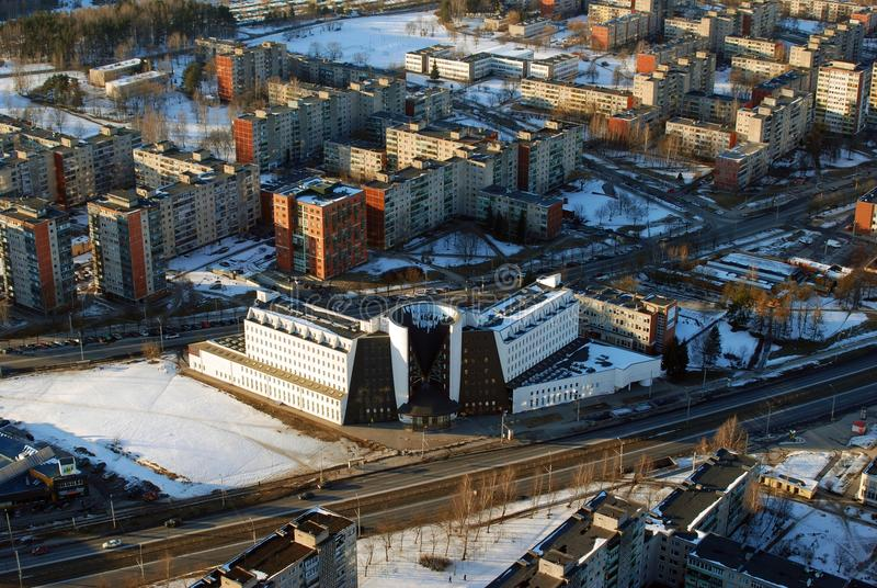 Vilnius-Stadtvogelperspektive stockfotos