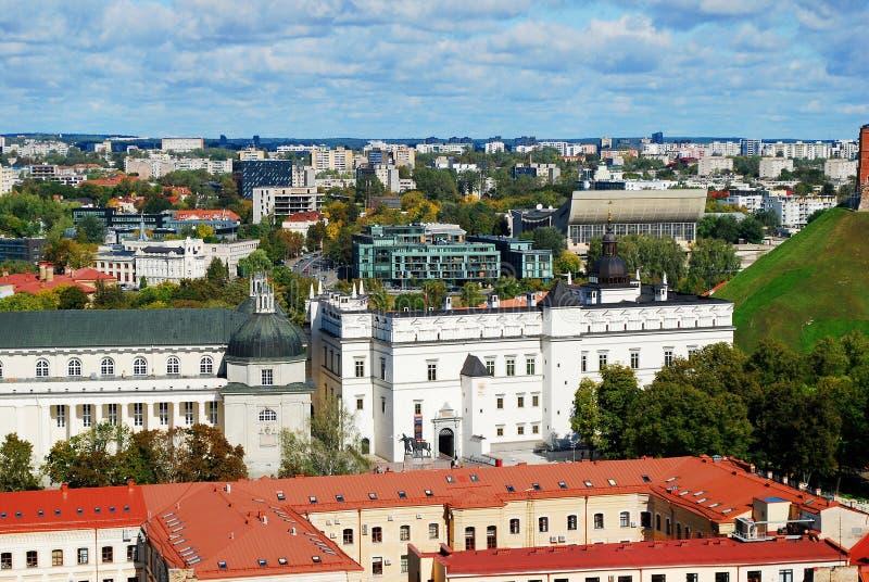 Vilnius-Stadtvogelperspektive vom Vilnius-Hochschulturm lizenzfreies stockfoto