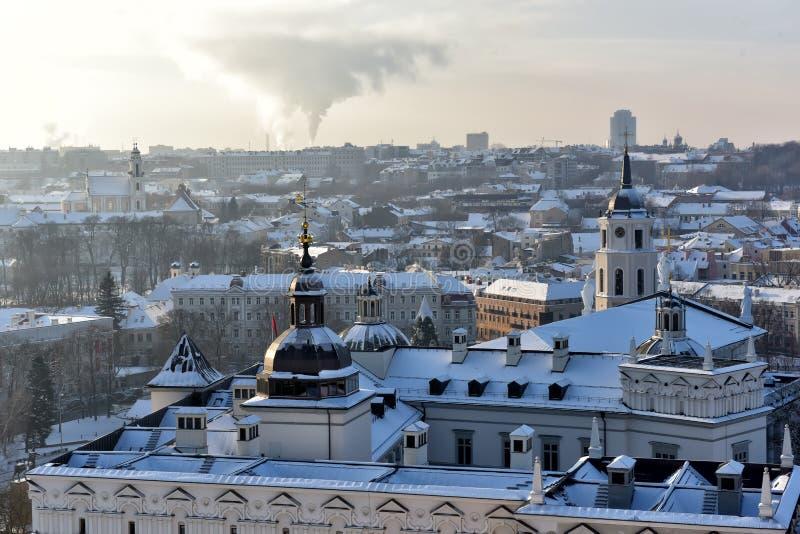 Vilnius telha a opinião do inverno imagens de stock royalty free