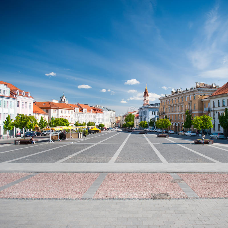 Download Vilnius Town Hall Square editorial photography. Image of architecture - 41891782