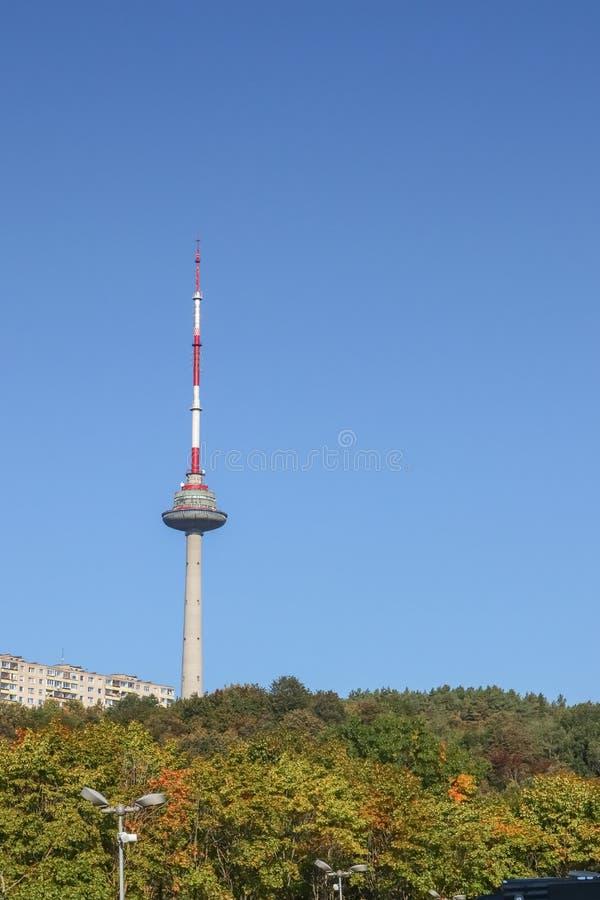 vilnius TV πύργων της Λιθουανίας 08 29 2011 στοκ εικόνα