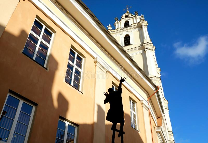 Vilnius view up. Vilnius, Lithuania travel enjoying nice city landscapes and architecture details royalty free stock photo