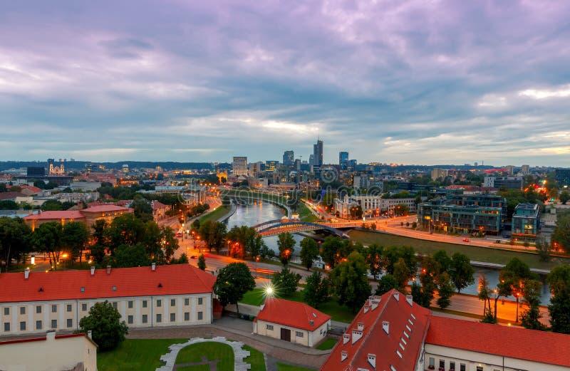 vilnius Vista aérea de la ciudad fotos de archivo libres de regalías