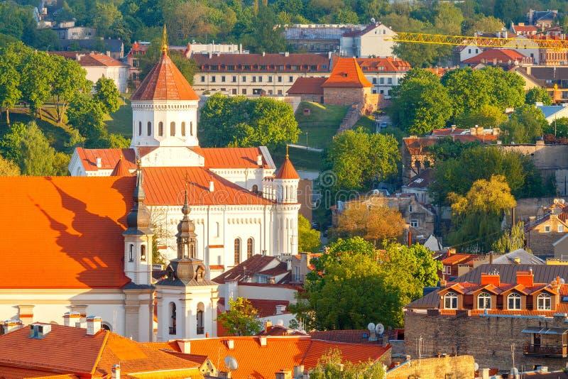 vilnius Vue aérienne de la ville photos libres de droits