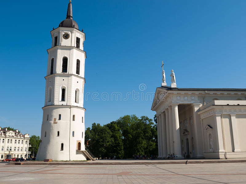 Vilnus, Lithuania. May 23, 2014: Vilnius - Cathedral square. The Cathedral of Vilnius is the heart of Catholic spiritual life in Lithuania stock photos