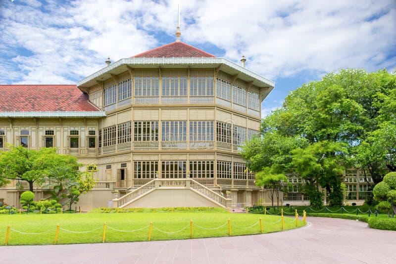 Vimanmek宫殿 免版税库存图片