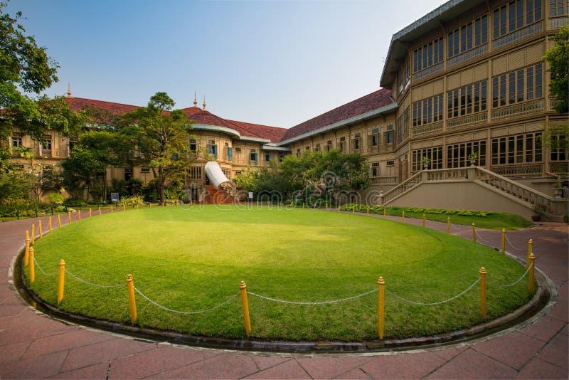 Vimanmek Mansion. In Dusit complex, Bangkok, Thailand royalty free stock photos