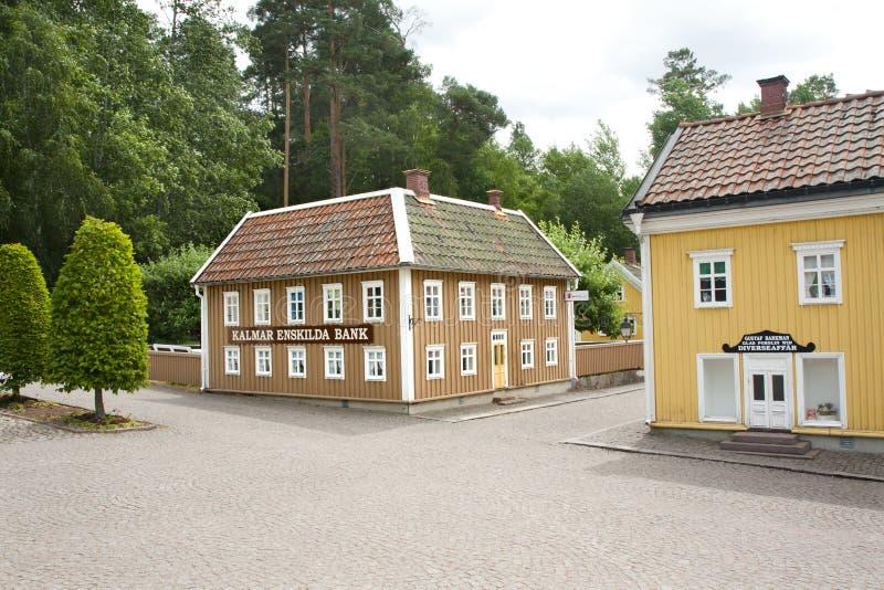 VIMMERBY SVERIGE - Juni 19, 2018 - världen för Astrid Lindgren ` s, Astrid Lindgrens Varld är ett nöjesfält royaltyfria bilder