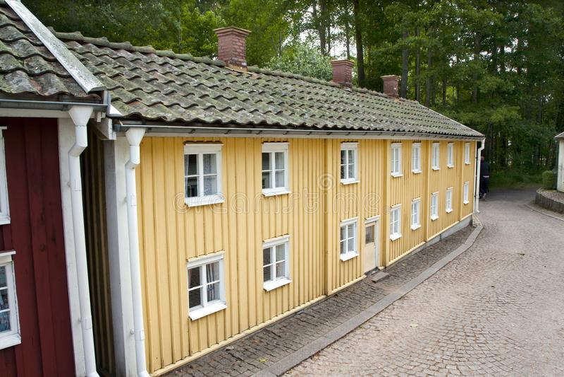 VIMMERBY SVERIGE - Juni 19, 2018 - världen för Astrid Lindgren ` s, Astrid Lindgrens Varld är ett nöjesfält royaltyfri fotografi