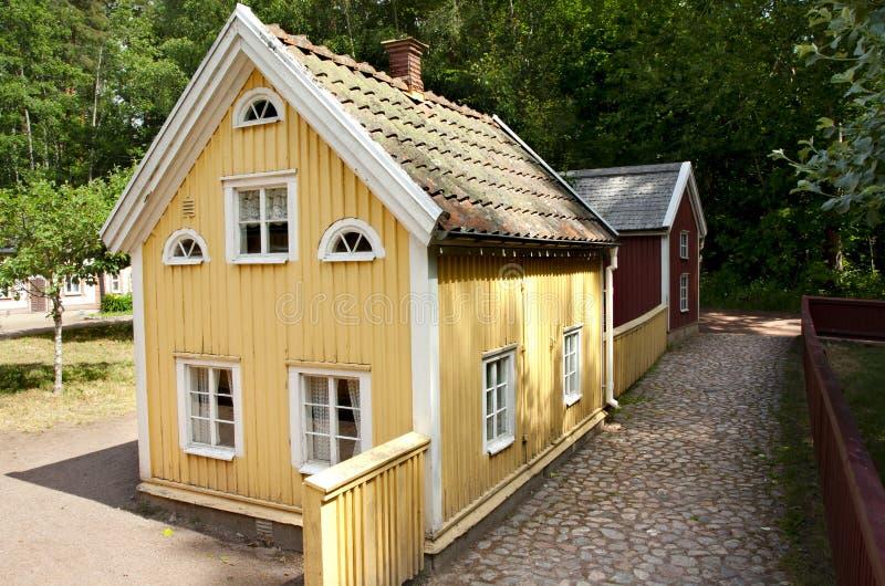 VIMMERBY SVERIGE - Juni 19, 2018 - världen för Astrid Lindgren ` s, Astrid Lindgrens Varld är ett nöjesfält arkivbild