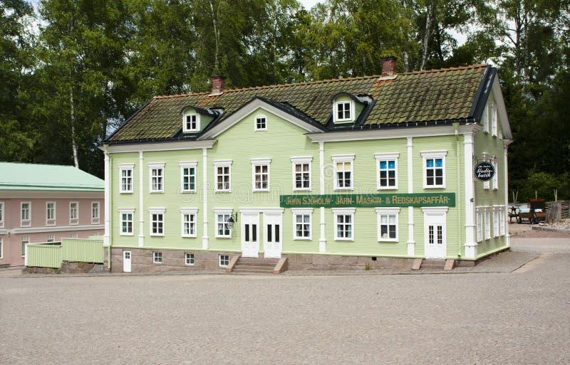 VIMMERBY SVERIGE - Juni 19, 2018 - världen för Astrid Lindgren ` s, Astrid Lindgrens Varld är ett nöjesfält royaltyfri foto