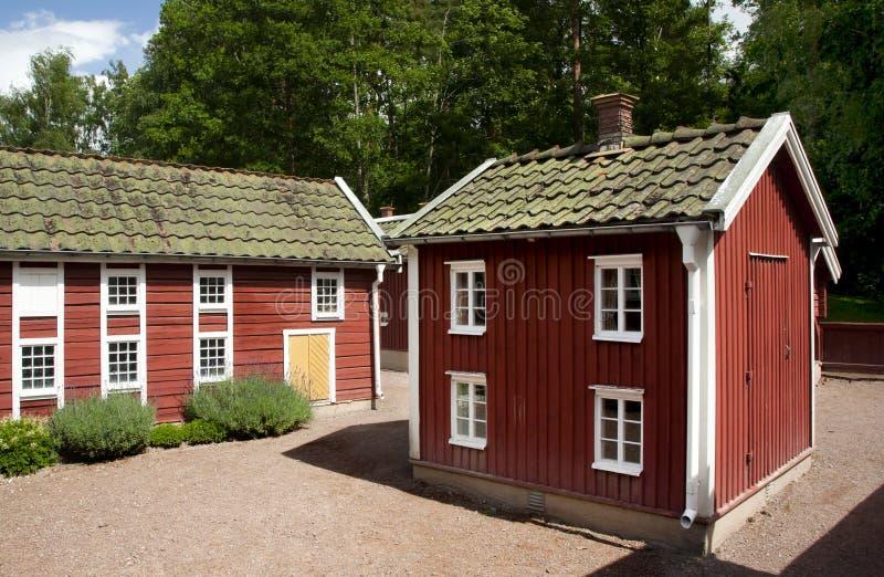VIMMERBY SVERIGE - Juni 19, 2018 - världen för Astrid Lindgren ` s, Astrid Lindgrens Varld är ett nöjesfält arkivfoto