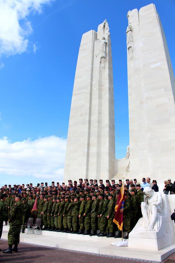 Vimy Ridge Memorial royaltyfri fotografi