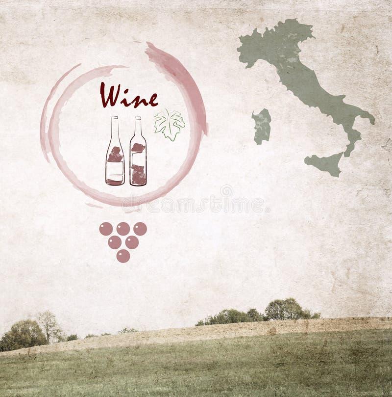 Vin stock illustrationer