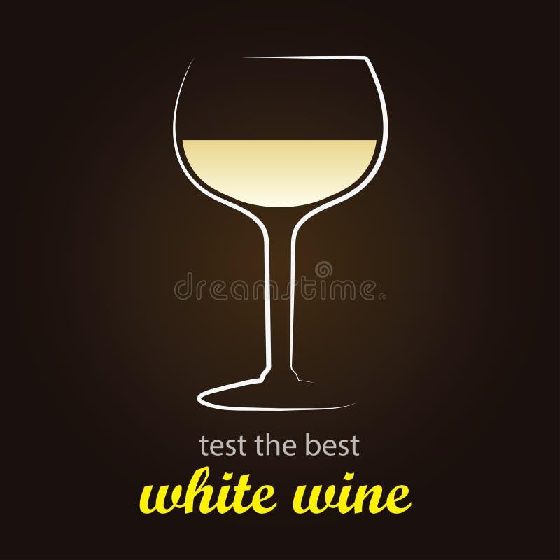 Vin blanc illustration de vecteur