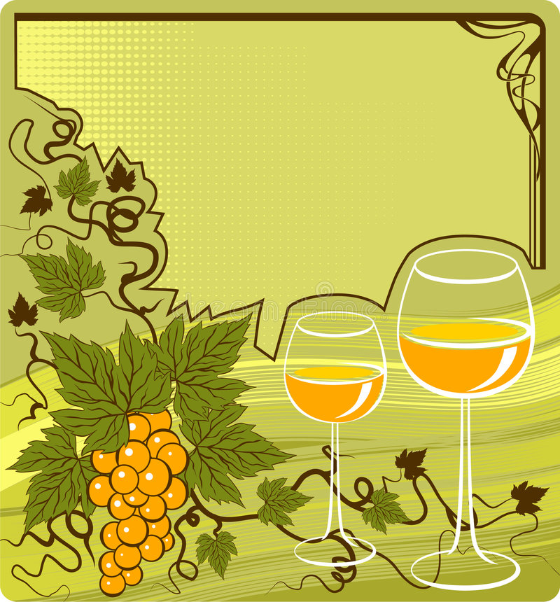 Vin blanc illustration libre de droits