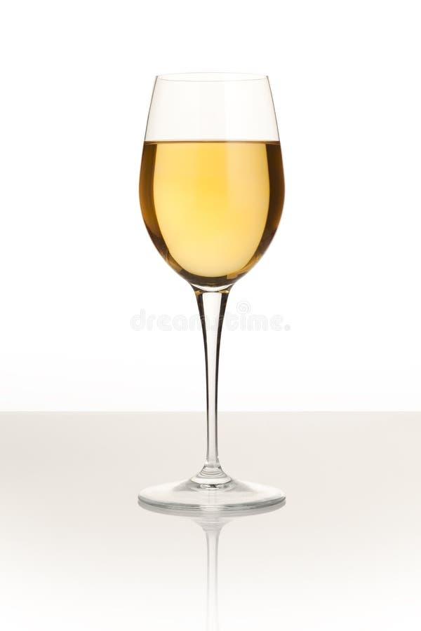 vin blanc en verre photo libre de droits