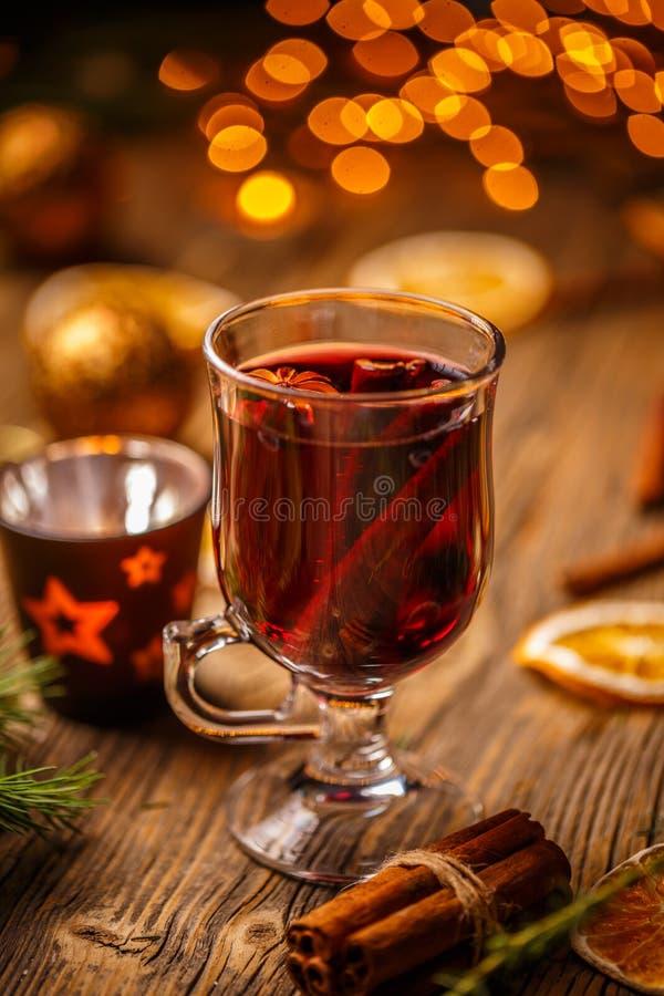 Vin brulé caldo di Natale immagini stock libere da diritti