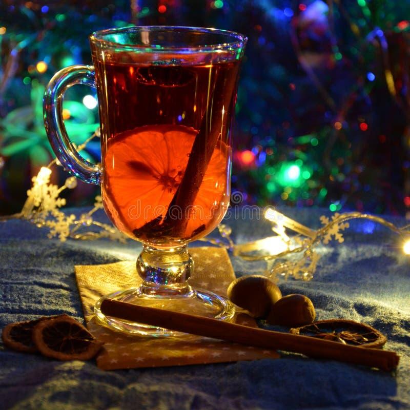 Vin chaud épicé photo stock