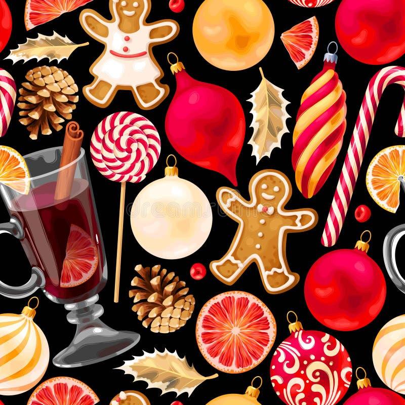 Vin chaud sans couture illustration libre de droits