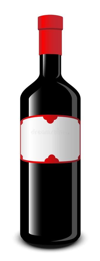 vin de bouteille illustration de vecteur
