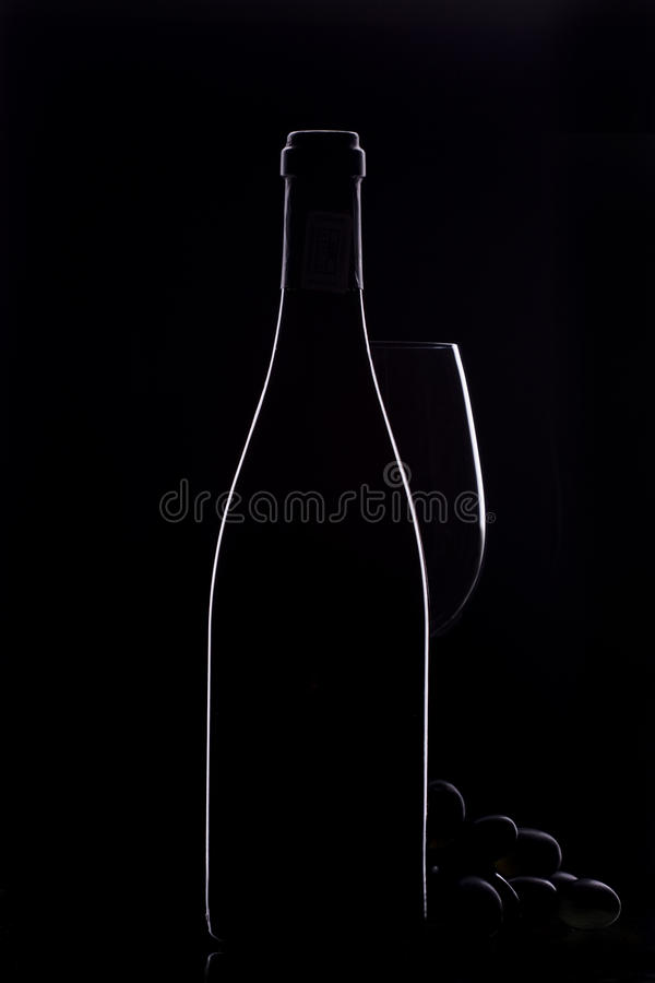 vin de bouteille image stock