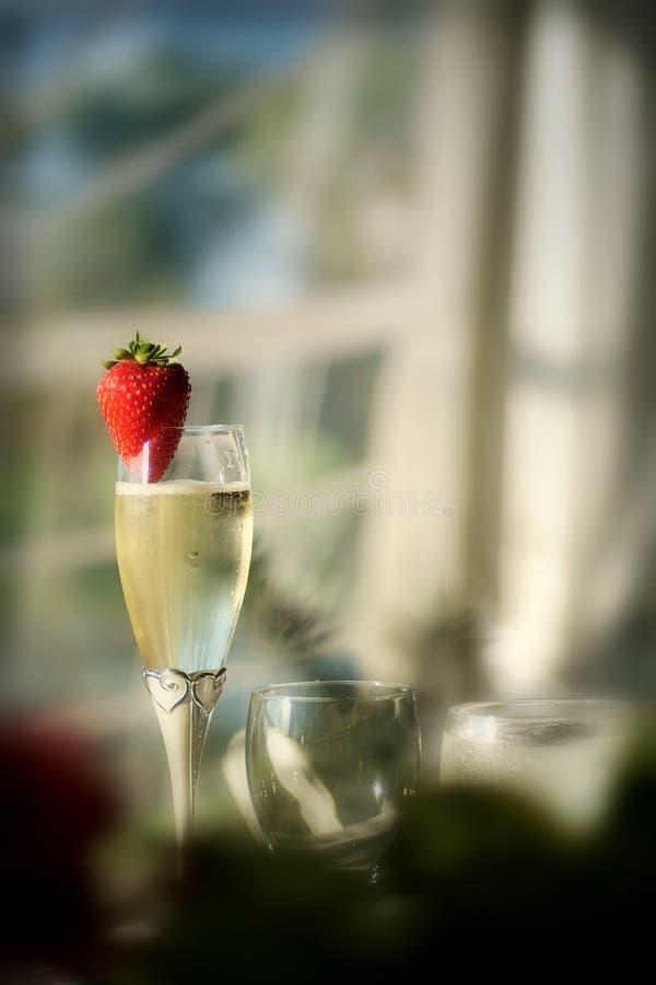 Vin de fraise photo stock