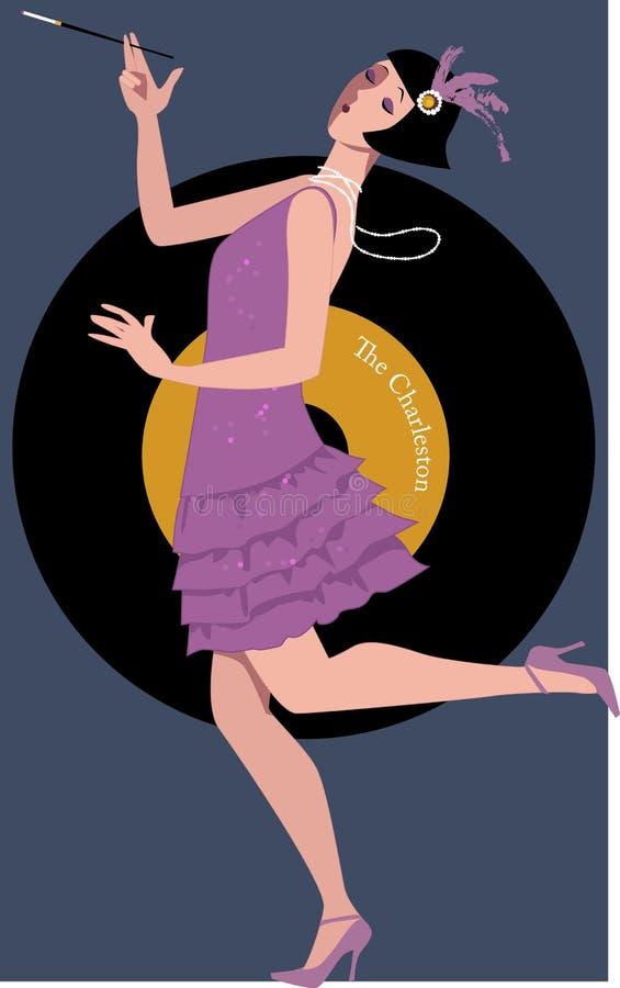 Vin die Charleston dansen vector illustratie