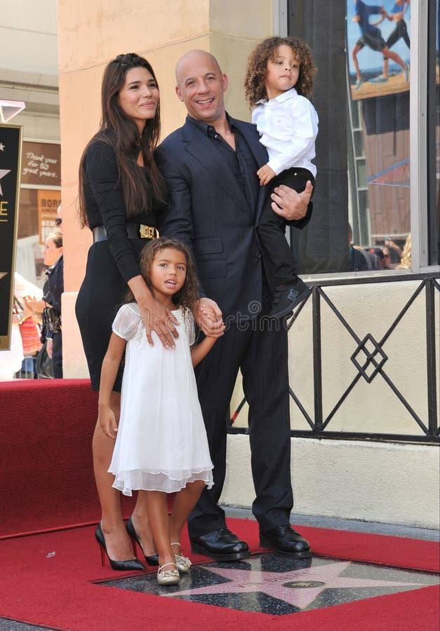 Vin Diesel & rodzina obrazy stock
