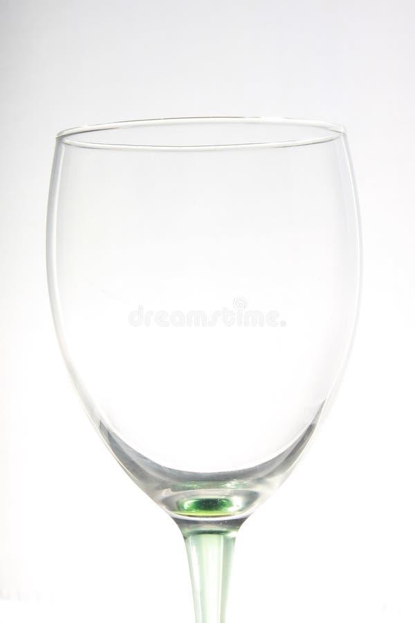 vin en verre vide photographie stock