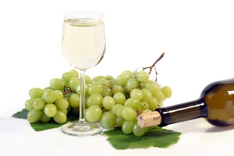 Vin et bouteille photos stock