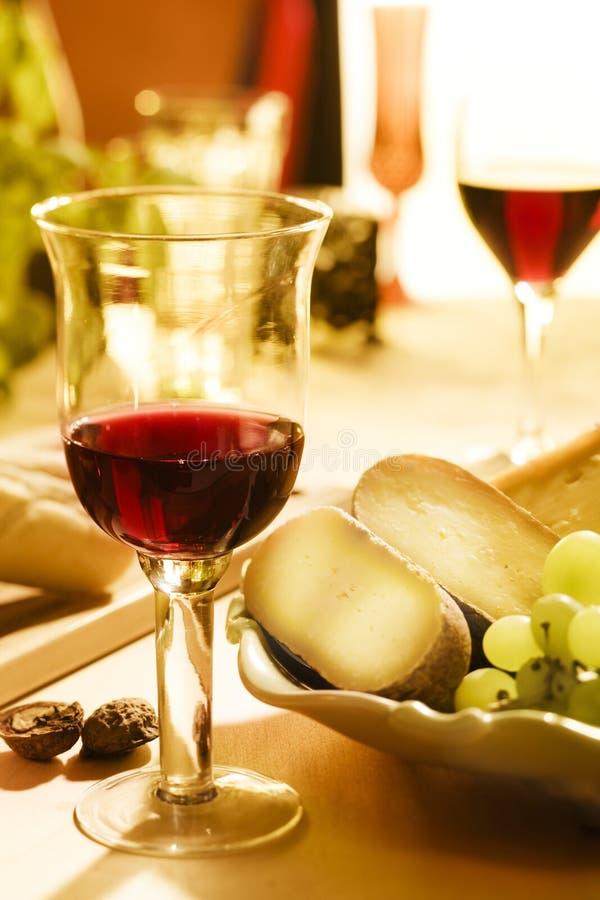 Vin et cheese0 photo stock