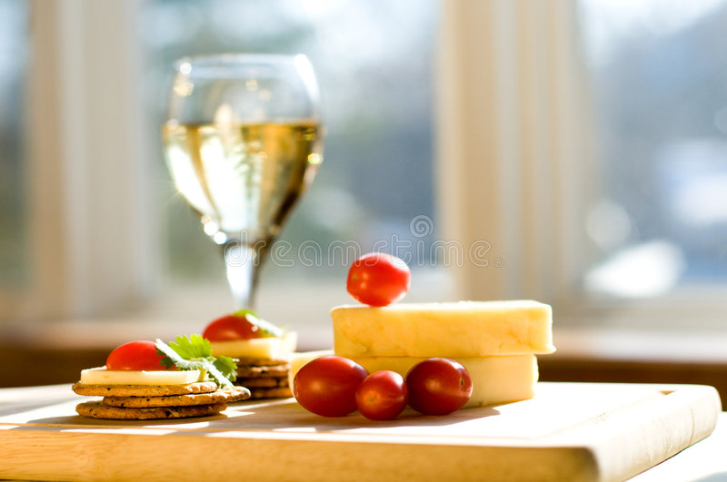 Vin et fromage photo stock