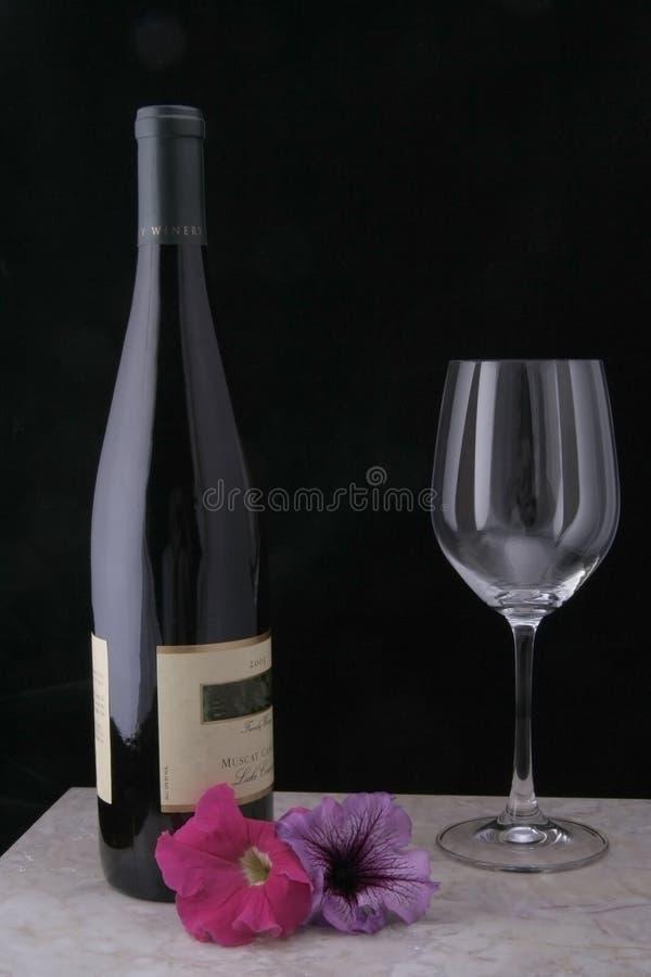 Vin et glace sur le marbre photographie stock