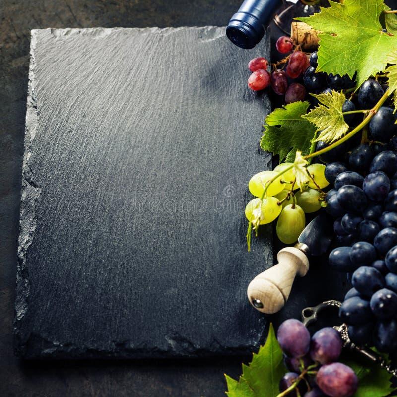 Vin och druva arkivbild