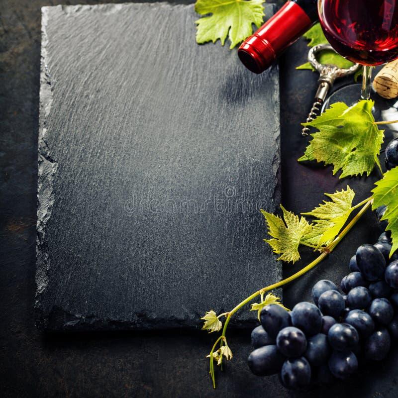 Vin och druva royaltyfri bild