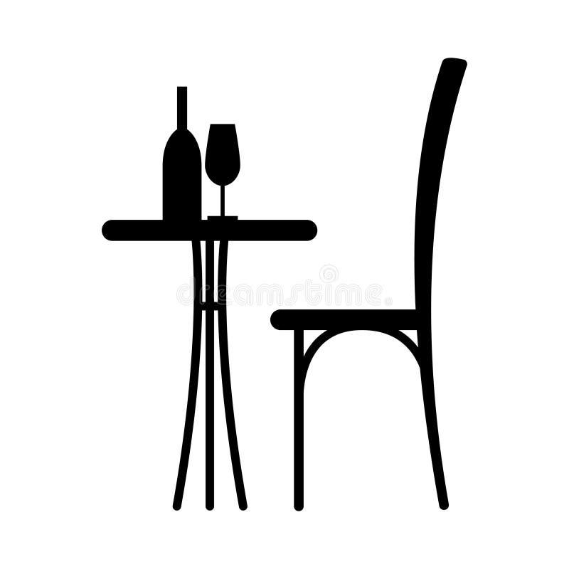 Vin på tabellen royaltyfri illustrationer