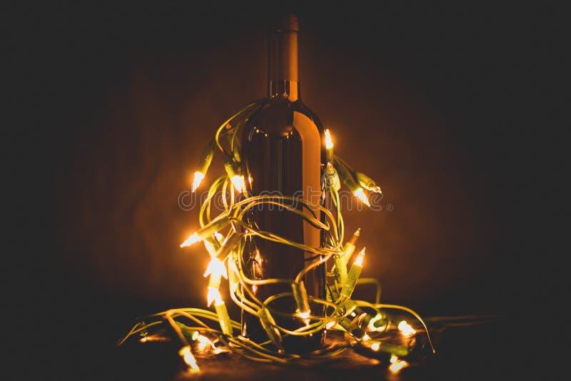 Vin pour célébrer les vacances image stock