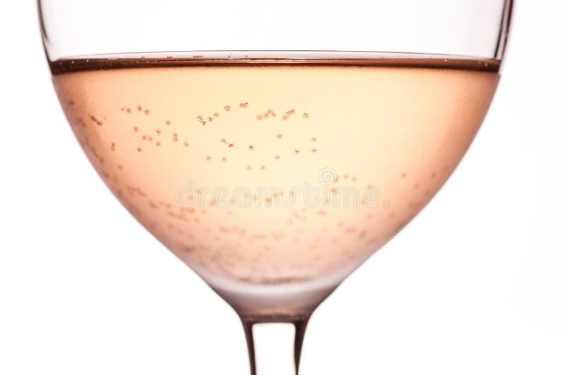 Vin rosé carbonaté photographie stock